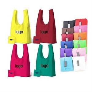Folding Reusable Grocery Tote Bag